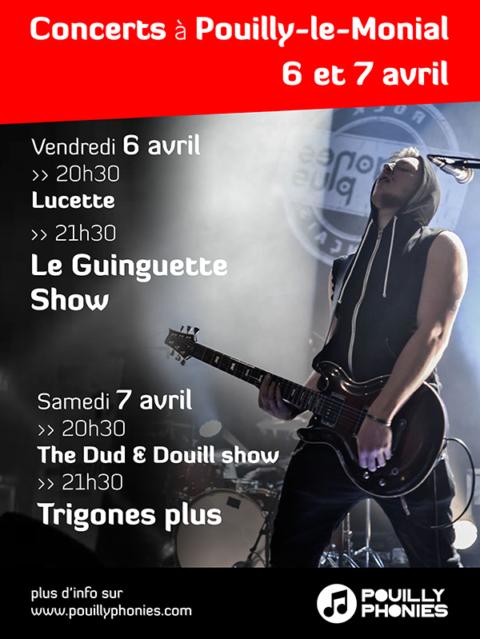 programmation 2018 des pouillyphonies, festival en Beaujolais